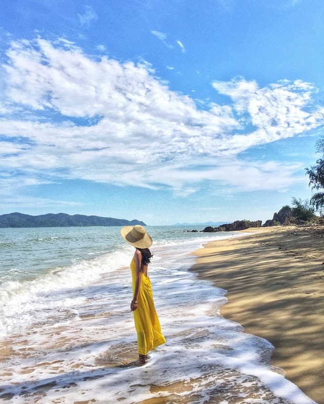 Cai Chien Island is peaceful and beautiful through check-in photos of young people
