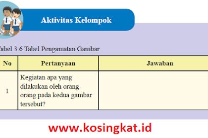 Kunci Jawaban IPS Kelas 8 Halaman 168 Aktivitas Kelompok Tabel 3.6