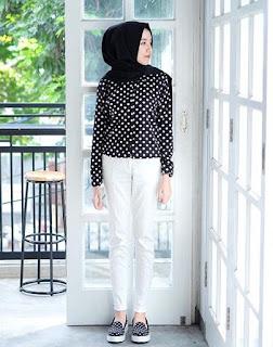 style hijab untuk muka bulat