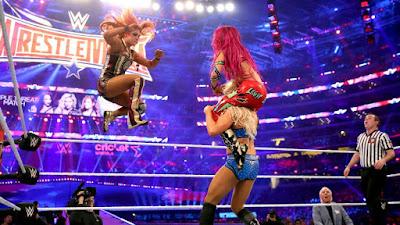 Becky Lynch Charlotte Flair Sasha Banks WrestleMania 32