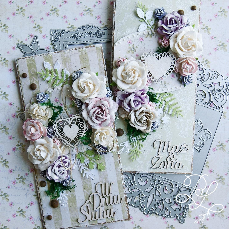 Ślubne kartki - kolejna inspiracja dla Kreatywnej Pracowni