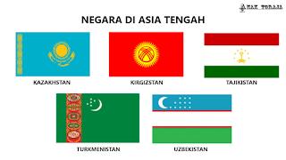 Bendera Negara Di Asia Tengah