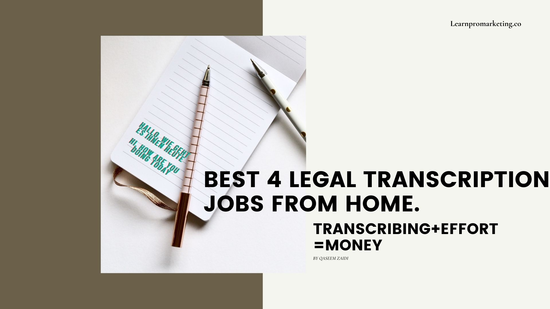 Best 4 Legal Transcription Jobs From Home.