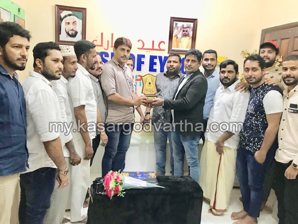 News, Gulf, Dubai, Felicitation, Felicitation for District volleyball ex captain Muneer Chemnad.