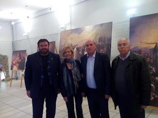 Πραγματοποιήθηκαν τα εγκαίνια της έκθεσης έργων του Θεόδωρου Βρυζάκη στο ισόγειο του Νερόμυλου