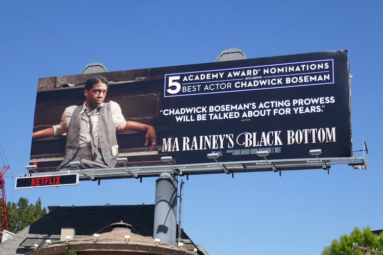 Chadwick Boseman Ma Raineys Black Bottom Oscar nominee billboard