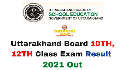 Sarkari Result: Uttarakhand Board 10TH, 12TH Class Exam Result 2021 Out