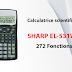 Calculatrice scientifique SHARP EL-531WH - 272 Fonctions (Statistique)
