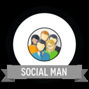 Badge condivisione sui social