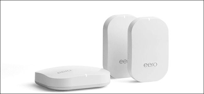 ثلاثة أجهزة Amazon Eero mesh Wi-Fi