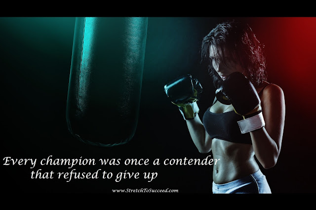Every champion was once a contender that refused to give up - Rocky Balboa