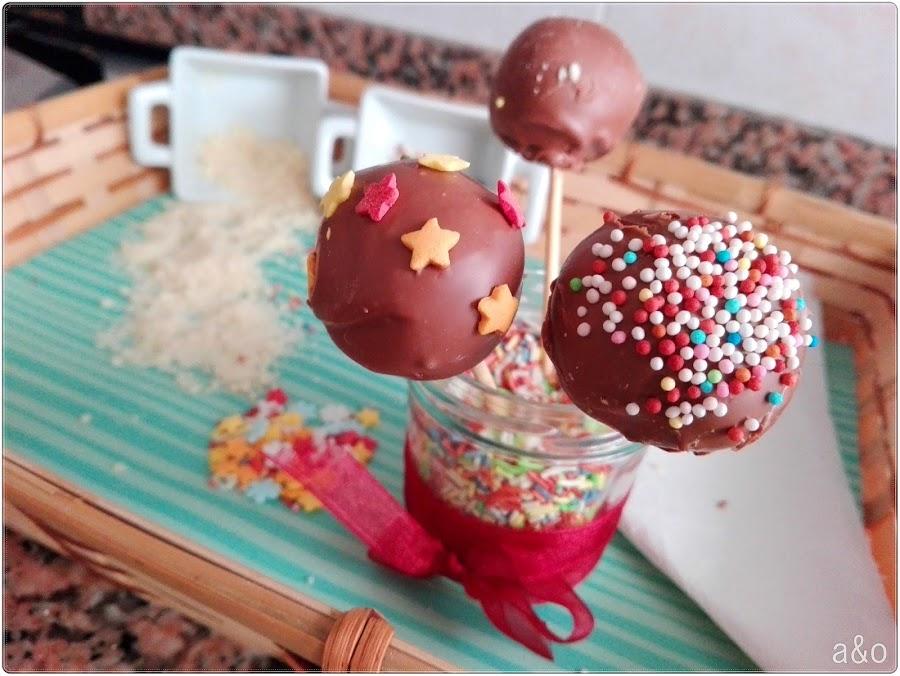 Cake pops de chocolate