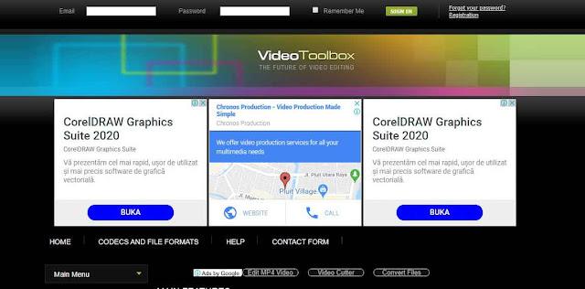 Selanjutnya ada nama Video Toolbox, dari segi tampilan dan cara penggunaan memang sedikit lebih rumit dari 3 software sebelumnya meski demikian di Video Toolbox ini sobat bisa menggunakan berbagai macam tool canggih serta bisa menyimpan video dalam format populer seperti MKV, MP4, MOV dan masih banyak lagi.