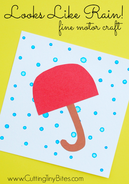 fine motor kids craft for preschool weather theme