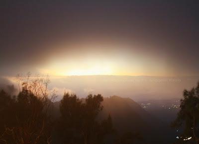 View persis ke arah matahari terbit