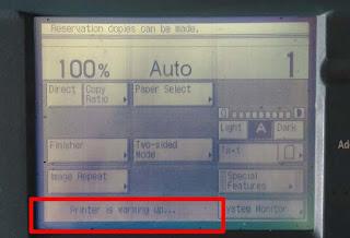 Solusi fotocopy tidak mau ready Warming Up