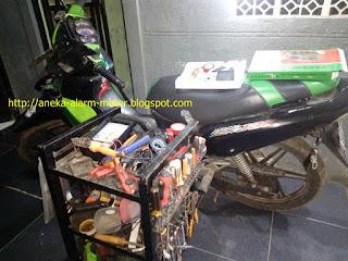 Cara pasang alarm motor pada Kawasaki Kaze ZX130