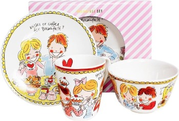 Blond Amsterdam servies set 1 persoon