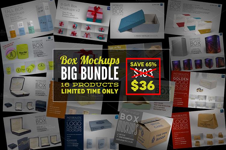 Box Mockups Big Bundle