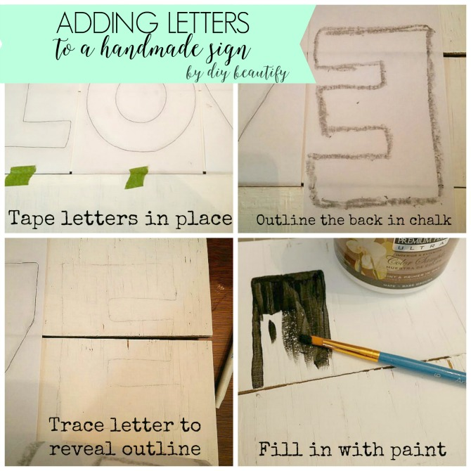 Turn some scrap wood into a perfectly weathered DIY handmade sign! You'll love the character, charm and imperfection. Find the tutorial at www.diybeautify.com!