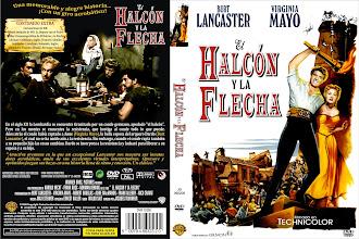 Carátula: El halcón y la flecha (1950) (The Flame and the Arrow)