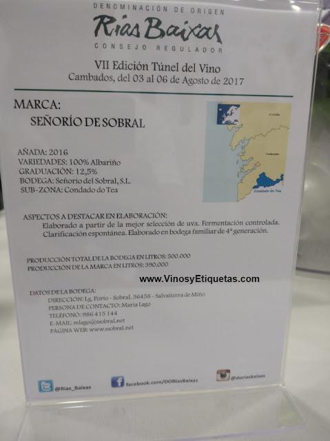 Vinosyetiquetas Vino Albariño Señorío De Sobral Desde Salvaterra De Miño Probamos Un Gran Vino
