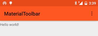 Crear un ToolBar en Android Studio con Material Design