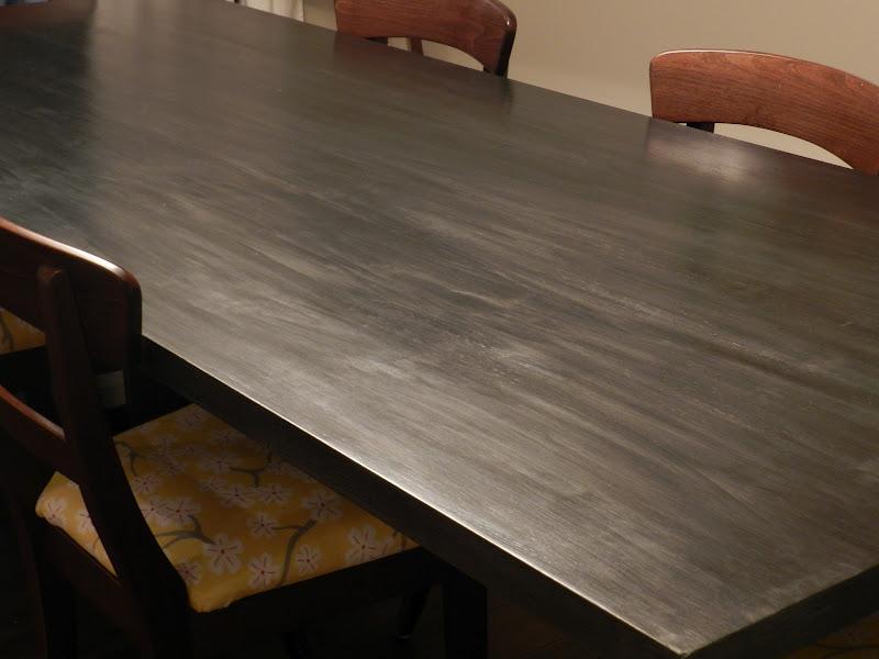 Julie Peterson Simple Redesign My Faux Zinc Table Top