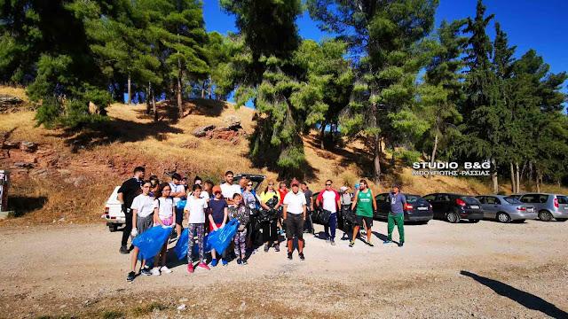 Εθελοντικός καθαρισμός του Λόφου Ασπίδας στο Άργος (βίντεο)