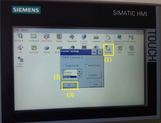Transfer settings Simatic HMI