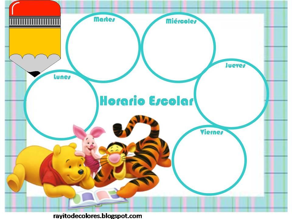 Horario escolar de Winnie Pooh