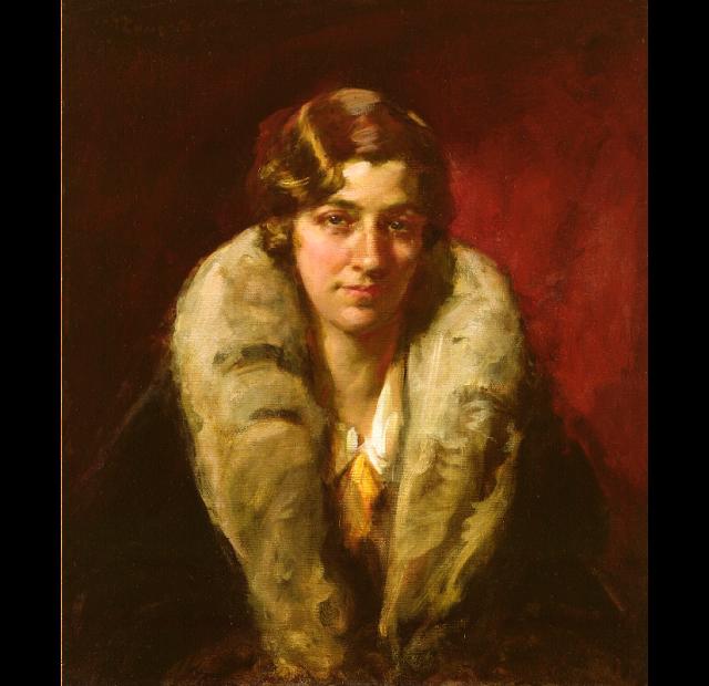 Portrait of British Pilot Amy Johnson by Sir John Longstaff