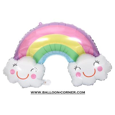 Balon Foil Awan Smile Pelangi