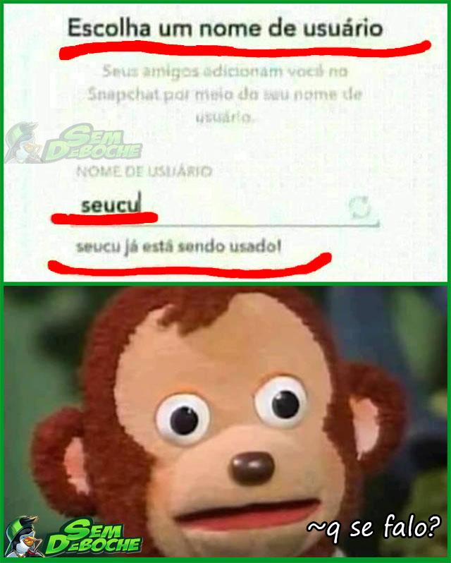 O ETERNO ESTRESSE DE ESCOLHER O NOME DE USUÁRIO
