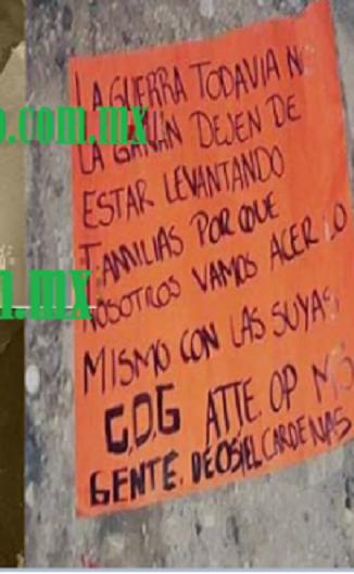 """""""La guerra todavía no la ganan"""" El CDG de la gente de Osiel Cárdenas ejecutan a 2 guardias en Reynosa"""