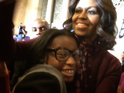 City Springs Student Meets First Lady Michelle Obama