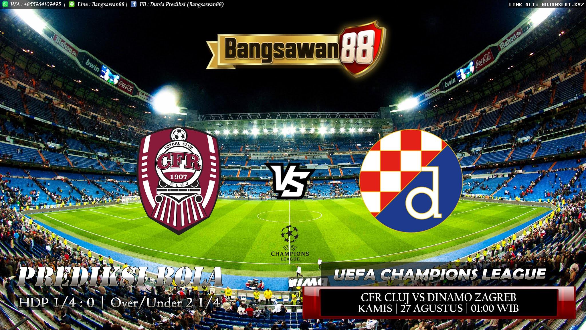 Prediksi CFR Cluj vs Dinamo Zagreb 27 Agustus 2020 ...