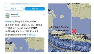 Mengapa Gempa Jepara Pagi Tadi Justru Dirasakan Jawa Bagian Selatan?