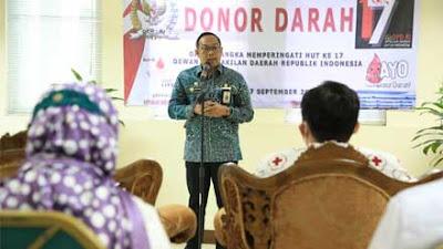 Sambut HUT ke-17, Sekretariat Jenderal DPD RI Gelar Donor Darah