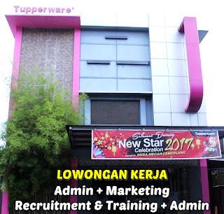 Lowongan Kerja Admin, Marketing - PT Nusa Megah Cemerlang (Tupperware) Pontianak