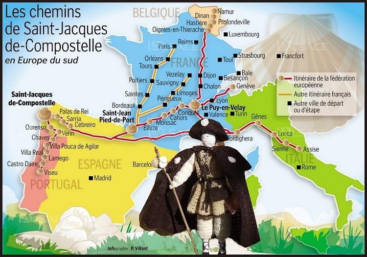 Pèlerin de st Jacques de compostelle