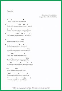 chord lagu cantik band kahitna