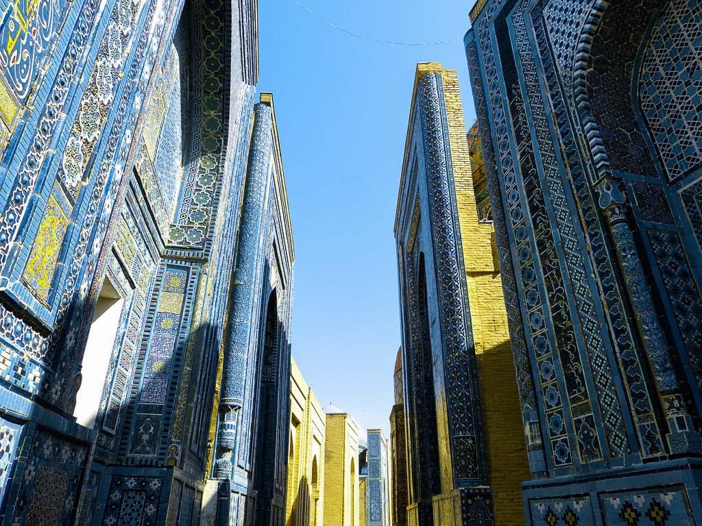 Necrópolis de Shah-i-Zinda en Samarcanda, Uzbekistán