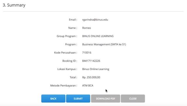 Cara daftar Online Universitas BINUS Terbaru 2019 -2020