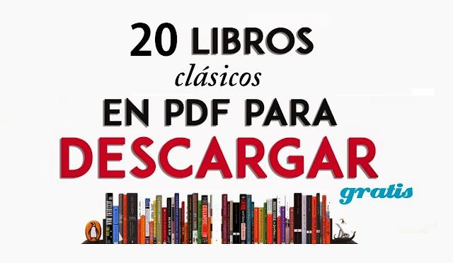 20 CLÁSICOS DE LA LITERATURA PARA DESCARGAR GRATIS