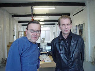 Wim Delvoye and Klaus Guingand - 2005 - Gent - Belgique.Wim Delvoye studio