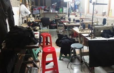 usaha home industri jasa jahit pakaian jadi daerah Tangerang Selatan