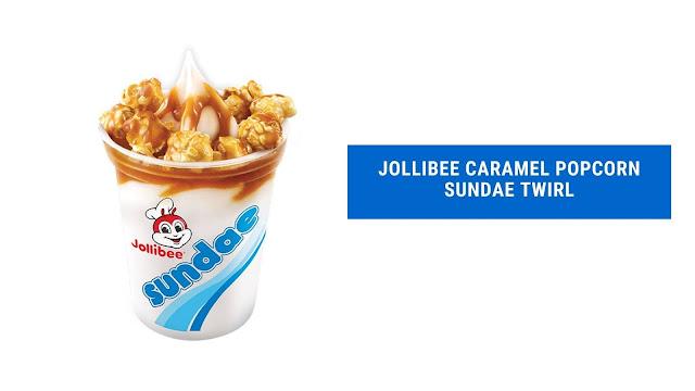 Jollibee Caramel Popcorn Sundae Twirl