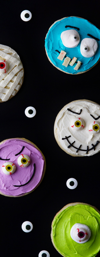 Halloween Monster Cookies via My Baking Addiction
