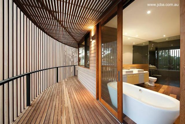 Detalle de arquitectura interior en residencia contemporánea australiana